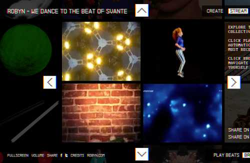 """we dance to the beat"" interactive beat machine"