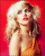 Debbie Harry image encoded with diamond mosaic